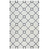 Rizzy Home Luniccia Collection Tufted Area Rug, 8' x 10', Grey/Off-White