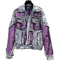 Thick Sequins Denim Jacket