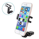 Air Vent Car Mount, Elktry Universal Cell Phone Car Holder Cradle Car Accessories for iPhone 7 Plus, 7, 6s Plus, 6 Plus, 6s, 6, 5s, 5, SE Samsung and Android phones( Black)