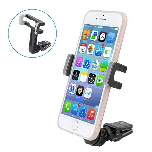 Price comparison product image Air Vent Car Mount, Elktry Universal Cell Phone Car Holder Cradle Car Accessories for iPhone 7 Plus 7 6s Plus 6 Plus 6s 6 5s 5 SE Samsung LG Sony Nexus and other Android phones( Black)