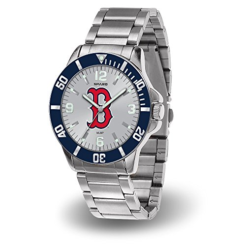 (Boston Red Sox MLB Key Watch with Stainless Steel Band)