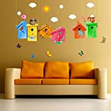 (US) Home Decor Vinyl Wall Stickers Birdcage Removable Room Decor Wall Decals Wingdow Clings for Kids Room Nursery