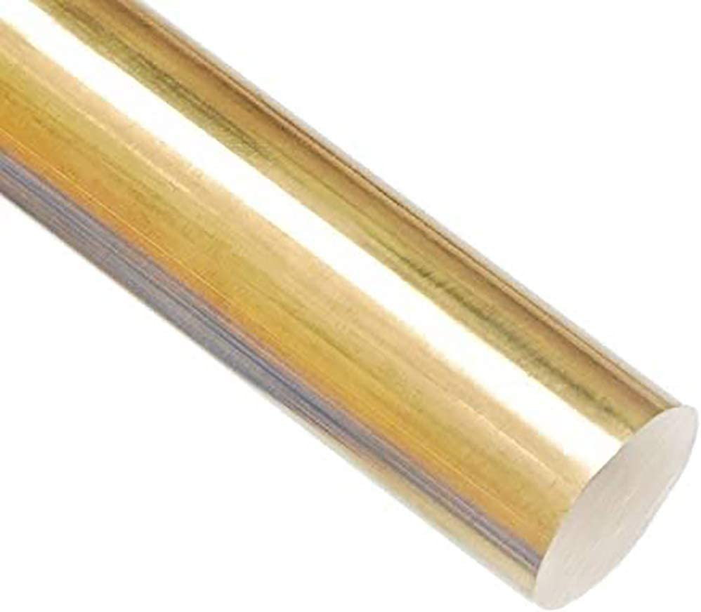 Length 200mm,15mm Wzqwzj Copper Round Bar Solid Brass Rods for Metal Working