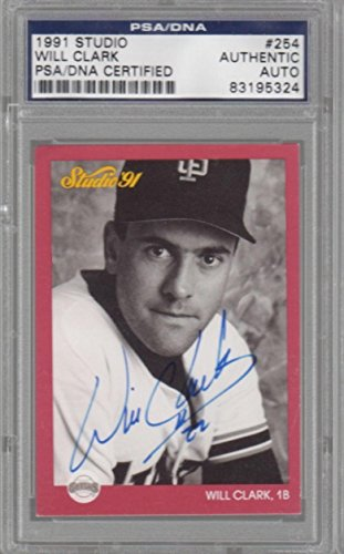 Will Clark San Francisco Giants 1991 Studio Signed AUTOGRAPH - PSA/DNA Certified - Baseball Slabbed Autographed - Will Mlb Clark