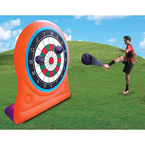 Magic Time International Inflatable Self Sticking Dart Board Soccer Target Game (Fun Games To Play At Soccer Practice)