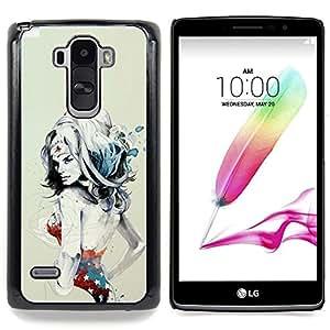 """W0nder Mujer Sexy Superhero"""" - Metal de aluminio y de plástico duro Caja del teléfono - Negro - LG G4 Stylus / G Stylo / LS770 H635 H630D H631 MS631 H635 H540 H630D H542"""
