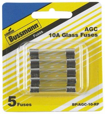 Cooper Bussmann 5 Packs 5PK 10A Ferrule Fuse ()