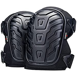 NoCry Professional Knee Pads with Heavy Duty Foam Padding and Comfortable Gel Cushion, Strong Double Straps and…