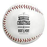 Nvthenpiaoliang Inspiring Quotes May Your Christmas Be Bright And Merry Soft Standard Practice Ball Baseball Game Ball