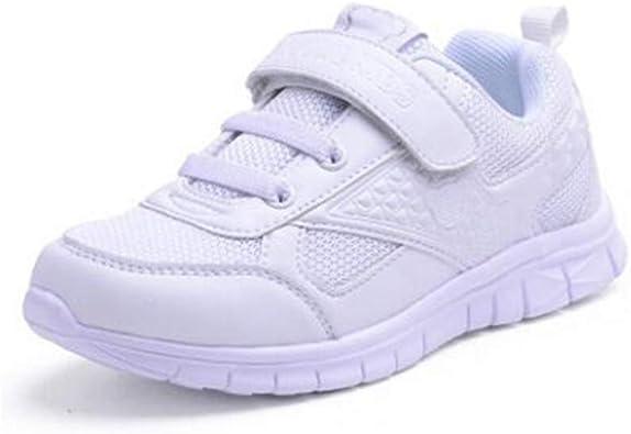 Zapatillas Deportivas para niños Moda cómodas Planas Zapatillas Deportivas Juveniles de Cuero niños y niñas Blancas Transpirables Zapatillas Ligeras para Correr: Amazon.es: Zapatos y complementos