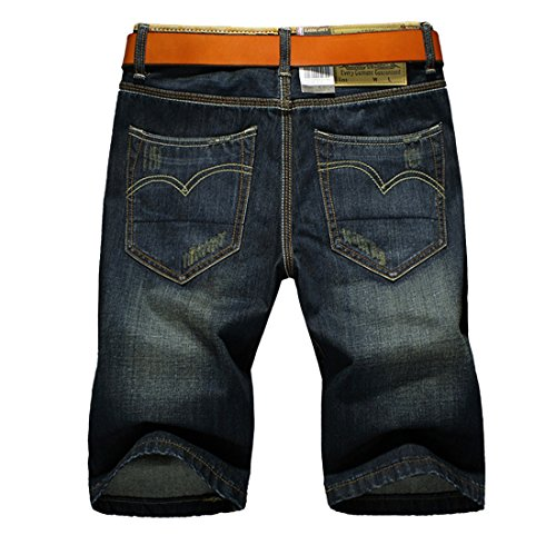 Voberry® Men's Casual Shorts Washed Jeans Denim Shorts (33)