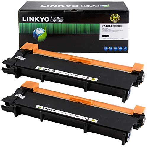 - LINKYO Compatible Toner Cartridge Replacement for Brother TN660 TN-660 TN630 (Black, High Yield, 2-Pack)
