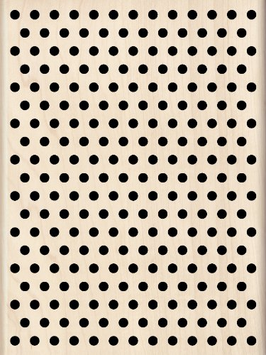 Inkadinkado Polka Dot Background Wood Stamp