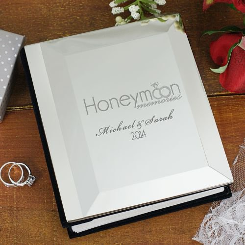 GiftsForYouNow Honeymoon Engraved Photo Album