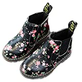 YING LAN Fashion Children Kids Snow Martin Boots Boys Girls Waterproof Toddler Shoes Flower Black Without Cotton