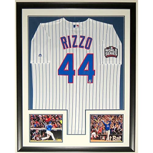 huge discount 92e17 5d6e8 ANTHONY RIZZO SIGNED 2016 WORLD SERIES MAJESTIC CUBS JERSEY ...
