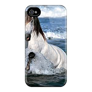 Anti-scratch And Shatterproof White Horse Phone Cases For Iphone 6/ High Quality Cases