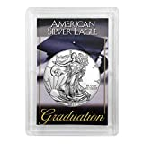 """2019 - American Silver Eagle in""""Graduation"""" Holder Dollar Uncirculated Us Mint"""