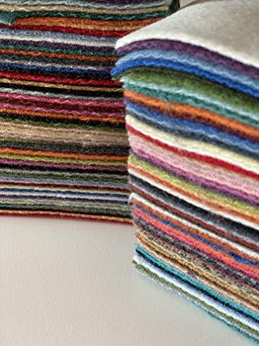 Crewel Wool Thread - Wool Scrap Bag, 3/4 Pound,100% Premium Moda Wool Scraps, Great for Wool Appliqué, Wool Crafts, Quilts, Sewing