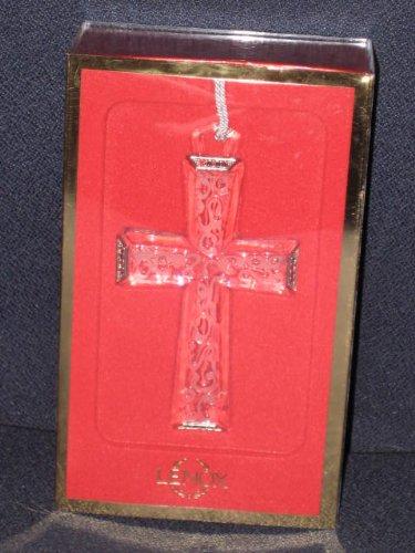 Lenox Full Lead Crystal - Jeweled Satin Cross Christmas Tree Ornament