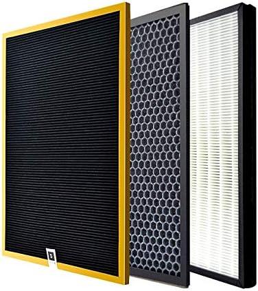 Filtro de Reemplazo Purificador Reemplazo AC4121 AC4123 AC4124 Filtro HEPA y kit de filtro de carbón activado Compatible con PHILIPS AC4002 AC4004 AC4012 Piezas del purificador de aire Reemplazo
