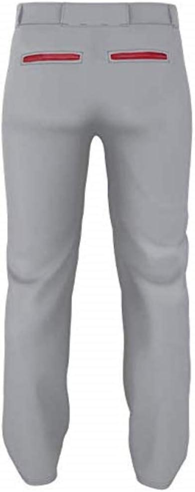 Alleson Adult Pro Warp-Knit Open Bottom Baseball Pants W//Piping