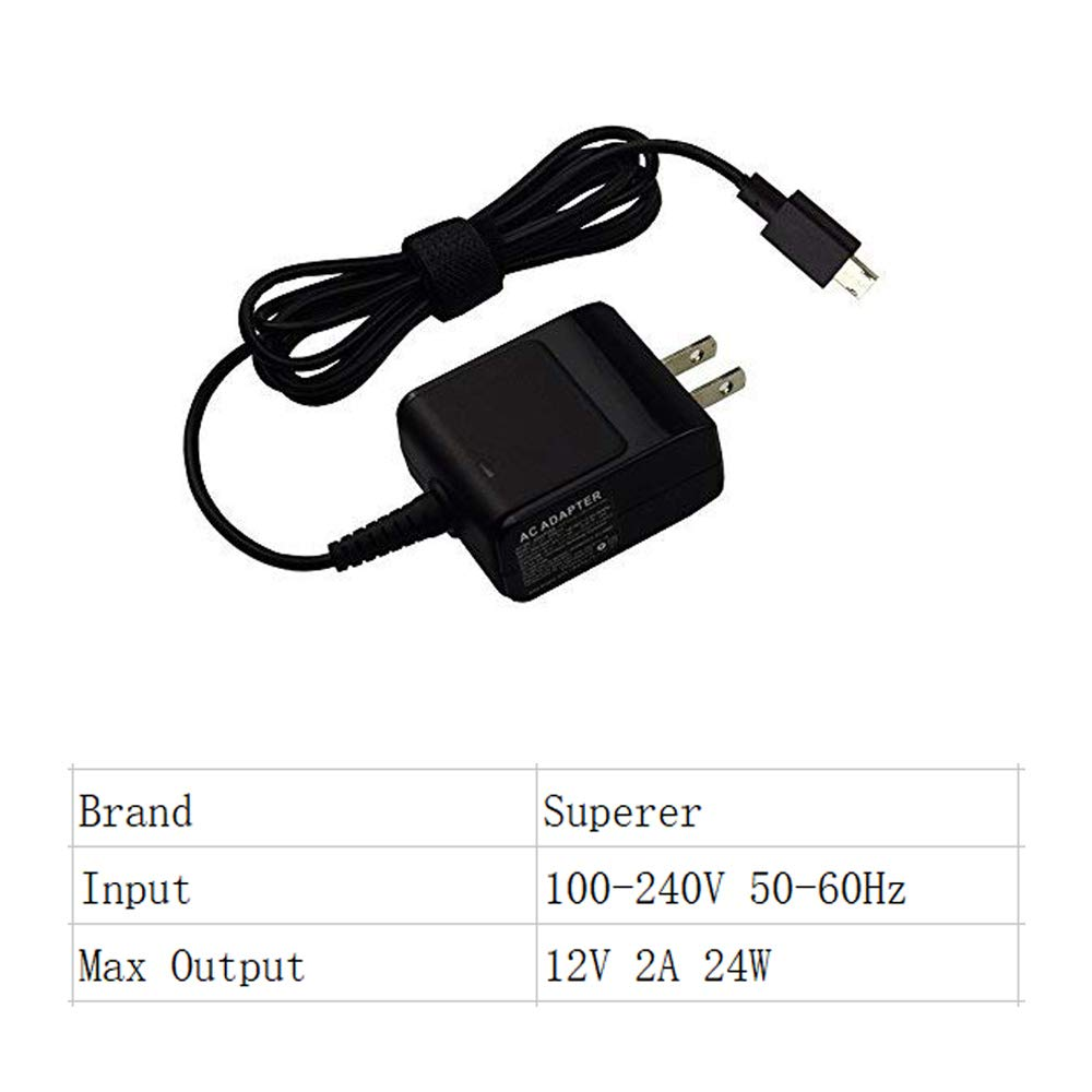 UL Listed AC Charger for Asus C100P C100PA C100 C100PA-DB02 C100PA-DB01 Chromebook Flip Notebook PC Laptop Power Supply Adapter Cord