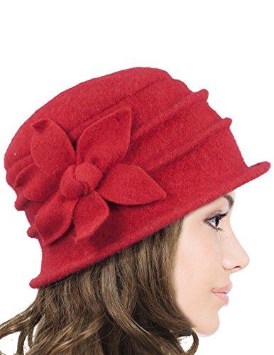 Dahlia Women's Daisy Flower Wool Cloche Bucket Hat - ()