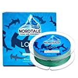 Nordtale Loot Braided Fishing Line 300yards 547yards - Improved Braided Fishing Lines - Abrasion Resistance - Zero Stretch - Thinner Diameter 6lb-80lb (Moss Green, 20lb 327-Yard 0.20 mm)