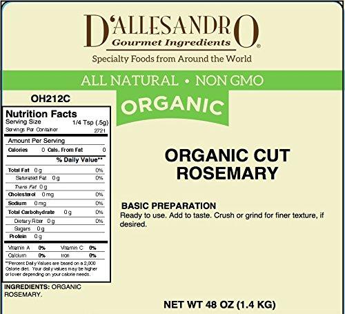 Organic Cut Rosemary, 3 LB Bag