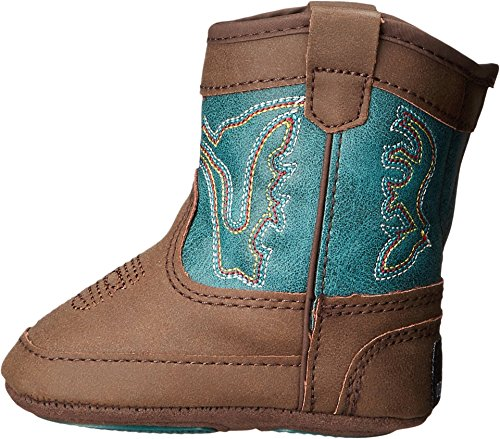 Picture of M&F Western Baby Boy's Bucker Open Range (Infant/Toddler) Brown/Turquoise Boot 4 Toddler M