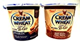 Cream of Wheat, NEW! Hot Cereal To-Go Cups, Variety 6 Pack + FREE 24 count Pack of Heavy Duty Plastic Spoons, 3 cups of CINNABON, 3 cups of MAPLE BROWN SUGAR WALNUT (2.29 oz cups)