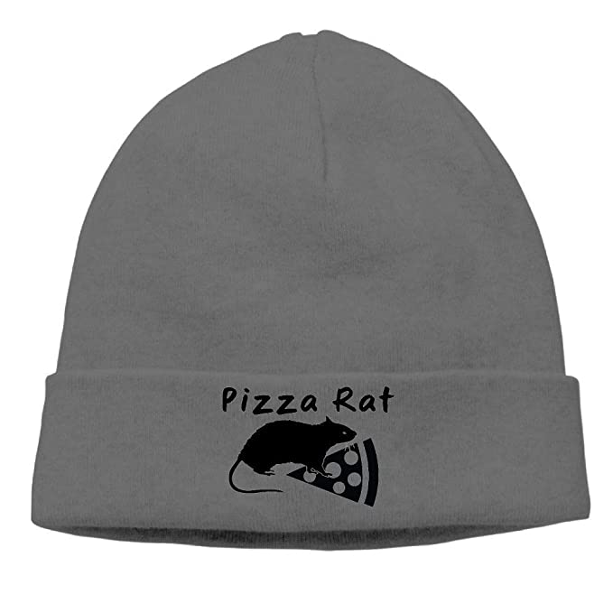 Image Unavailable. Image not available for. Color  woderbeer Pizza Rat Unisex  Soft Knitted Hat DeepHeather aefc3169a4e2