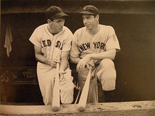 Old Tin Sign Old Baseball Pics Ted Williams Joe DiMaggio