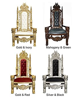Magnificent White Star Throne Chair Wedding Chair Lion King Hand Carved Wood Gold Red Beutiful Home Inspiration Ommitmahrainfo