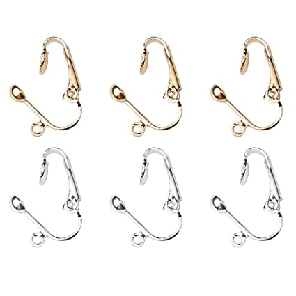 9d4211cb2 EUBags 36 Pcs Clip Earring Findings Dangle Earring Converters Clip-On  Earring Converter Uses for