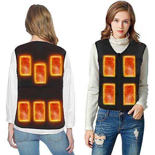 Heated Jacket Women Slim Fit Heating Vest Lightweight Eletric Hot USB Charging Heated Vest