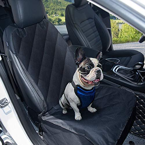 Goplus Pet Seat Cover Dog Car Seat Cover Waterproof Nonslip Rubber Backing w Anchor, Black