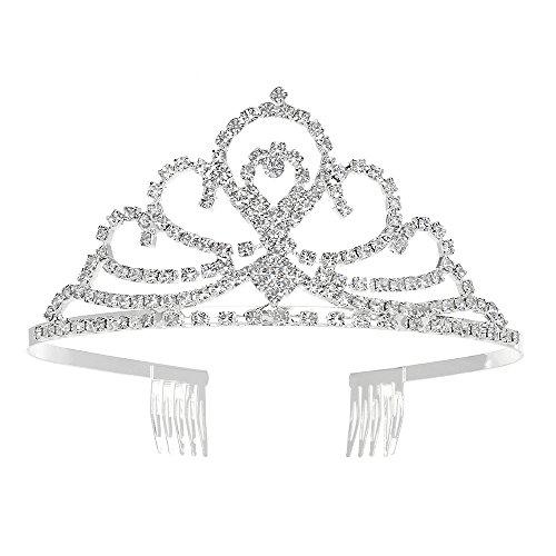 Crown Mens Bands - YUE DOU XIONG Elegant Wedding Bridal Crown Headband Tiara Charming Rhinestone Headpiece