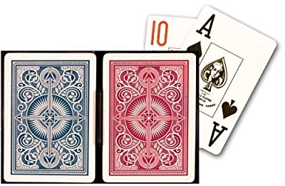 KEM Arrow Red and Blue, Poker Size-Jumbo Index Playing Cards | Learning Toys