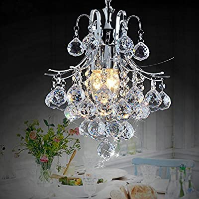 Crystal chandelier-style luxury lamp simple wrought iron modern bedroom living room dining room lighting 3035cm