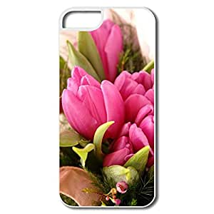IPhone 5 Cases, Fancy Pink Flowers Cases For IPhone 5 - White Hard Plastic wangjiang maoyi
