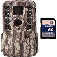 Moultrie M-40 16MP 80 FHD Video Low Glow IR Game Trail Camera + 8GB SD Card