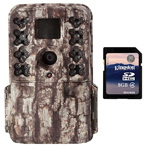 Moultrie M-40 16MP 80' FHD Video Low Glow IR Game Trail Camera + 8GB SD Card