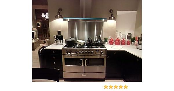 Credence Inox – Fondo de cocción – 100 x 75 cm (grosor=11 mm) – Cepillo de acero inoxidable: Amazon.es: Hogar