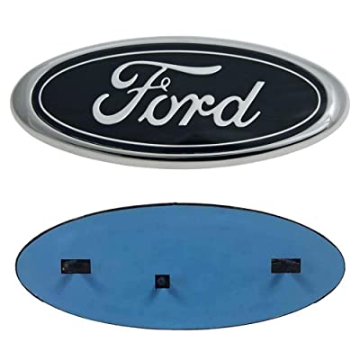 "OSIRCAT for 2004-2014 F150 Ford Front Grille Tailgate Emblem,Oval 9""X3.5"",Black Decal Badge Nameplate Also Fits for 04-14 F250 F350,11-14 Edge,11-16 Explorer,06-11 Ranger: Automotive"