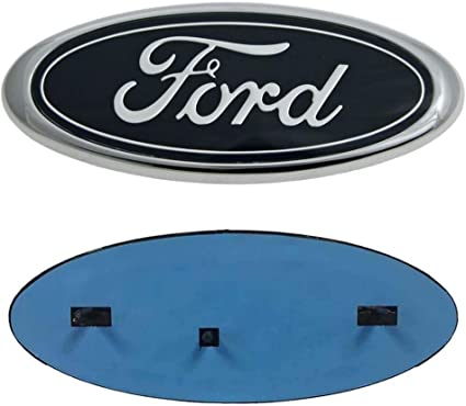 11-14 Edge F150 Emblem Ford Front Grille Tailgate Emblem Oval 9X3.5 Decal Badge Nameplate Also Fits for 04-14 F250 F350 11-16 Explorer Ford Emblem 06-11 Ranger