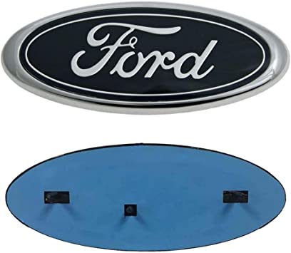 For Ford Emblem Front Grille Emblems 9X3.5 Tailgate Badge Replacement Oval Medallion Name Plate for F-150 2004-2014 F-250// F-350 2005-2007,Edge 2011-2014,Explorer 2011-2016,EXPEDITION,RANGER