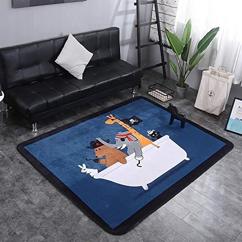 nobrand ZLEG E Pirate Pattern Rectangular Polyester Anti-Skid Household Carpet Yoga Mat, Size: 200cm x 150cm