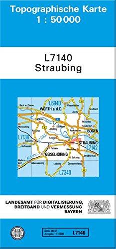 TK50 L7140 Straubing  Topographische Karte 1 50000  TK50 Topographische Karte 1 50000 Bayern
